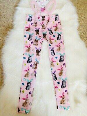 Capelli New York Girl's Cats Printed Seamless Legging Size S/M (7/10)