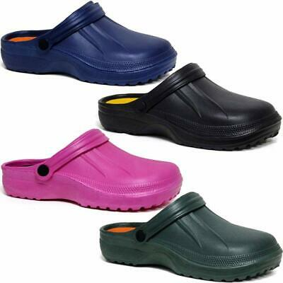 Ladies Clogs Mules Slipper Nursing Garden Beach Sandals Hospital Rubber Shoes