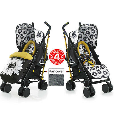 New Cosatto Sunburst Supa Pushchair Stroller Baby Buggy & Raincover From Birth