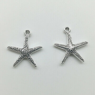 Wholesale starfish antique silver charms pendants jewelry DIY accs 20*18mm