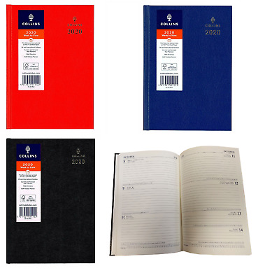 Collins Royal A5 Week To View 2020 Diary Hardback Cover Calendar Full Year Plan