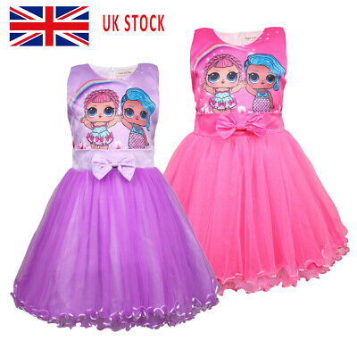 LOL Surprise Girl Doll Game Tulle Tutu Dress Fancy Party Princess Sundress UK