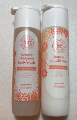 The Honest Company APRICOT KISS Shampoo + Body Wash and Conditioner - SET OF 2