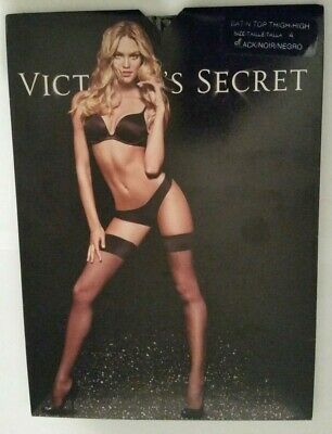 VICTORIA'S SECRET LACE TOP THIGH HIGH PANTYHOSE Size A  Free Shipping