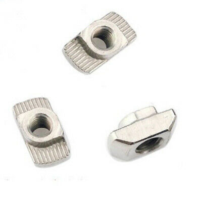 M4-20 T-Nut Female Thread T Slot Hammer Head Drop In Nut Tone Durable 50pcs Set