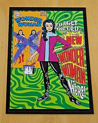 Dc Comic Cover Postcard ~ The New Wonder Woman Is Here! - N0.178  Sept/oct 1968