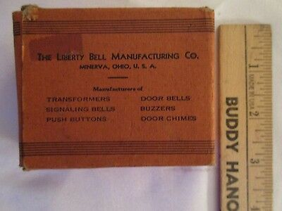 Vintage Antique Old Liberty Bell Co Doorbell Transformer - Collectible