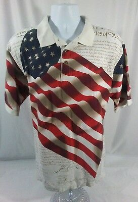 f42929cd8 American Summer Mens XL Polo Shirt Depicting the Declaration of Independence