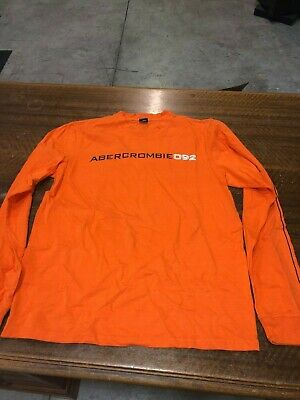 7b4c7bb1b Abercrombie & Fitch - Brand New Orange- Long Sleeve T-Shirt - Size Adult