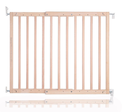 Safetots Chunky Wooden Screw Fit Stair Gate, Natural, 63.5 to 105.5 cm