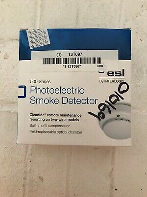 ESL By Interlogix And GE 521B 2-Wire Photoelectric Smoke Detector Fire Alarm