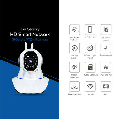 1080P HD Wireless IP Security Camera Indoor Home Smart Wifi Baby Monitor 128G