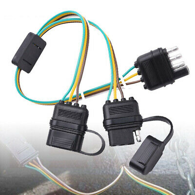 TRAILER SPLITTER 2-WAY 4 Pin Y-Split Wiring Harness Adapter ... on