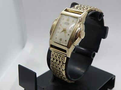 1930`s ROAMER ART DECO STEPPED CASE MAN`S STUNNING  WATCH...AWESOME DIAL