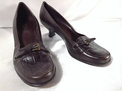 dcf5e0ee454 Women s FRANCO SARTO Brown Leather Loafers Slip On Shoes 2