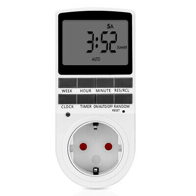 Universal Digital Electronic Plug-in Programmable 12/24 Hour Timer Switch Socket