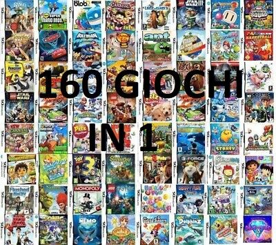 160 Giochi Ds Per Bambini Nintendo New 2Ds Xl- 3Ds Xl- 3Ds - 2Ds - Nds - Ndsi Xl