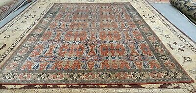 Exquisite Late 1930's Antique  Wool Pile Brick Red  Armenian Hereke Rug 7x10ft