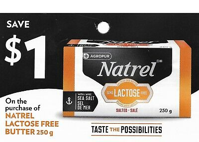 save on NATREL Lactose free butter + Bonus [Canada]