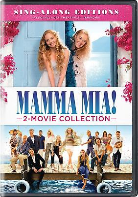 Mamma Mia  Here We Go Again 1-2 Sing Along 2 Movie Collection DVD Box Set New