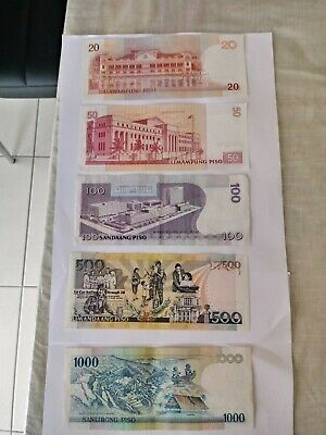 Various Denomination aUNC Condition Philippines Bank Notes.