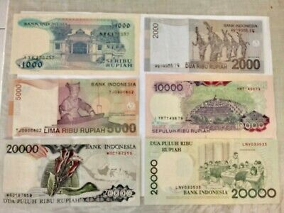 Various Denomination Indonesian Rupiah Bank Notes. Ideal For An Avid Collector.