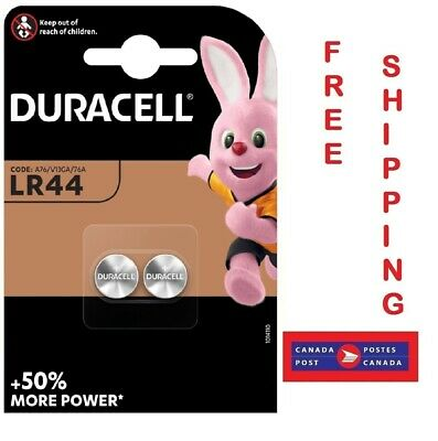 Duracell 1.5V Coin Cell Button LR44 Lithium Batteries A76 76A V13GA (Pack of 2)