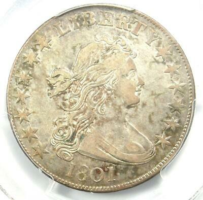 1801 Draped Bust Half Dollar 50C Coin - Certified PCGS XF45 - $9,250 Value!