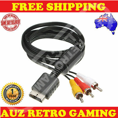 Playstation 1 2 3 PS1 PS2 PS3 TV AV RCA Audio Video Cable Lead Cord