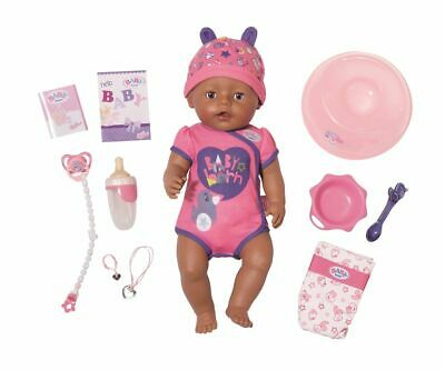 Baby Born Doll Soft Touch Girl Brown Eyes from 3 Years Zapf Creation