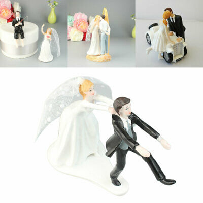 Romantic/Funny Wedding Cake Topper Figure Bride & Groom Couple Bridal Decoration