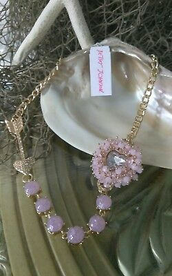 Betsey Johnson SWEET SHOP Gold-Tone Multicolor Stone /& Crystal Necklace B-21