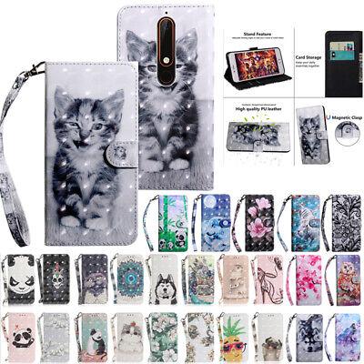 For Nokia 2.1 3.1 5.1 7.1 5.1Plus Magnetic Flip Leather Wallet Stand Case Cover