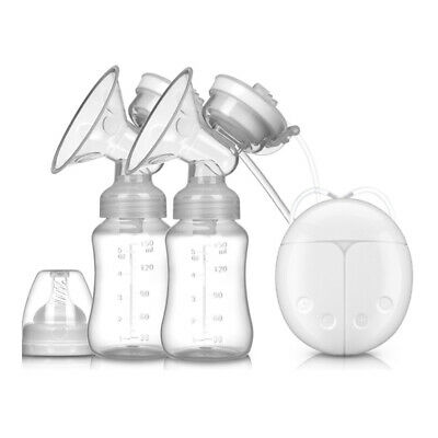 Double Electric Breast Pump With Milk Bottle Infant Baby Breast Feeding USB