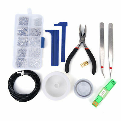 Findings Set Pliers Silver Beads Wire Starter Tool Jewellery Making Kit DIY AU