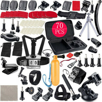 70 in 1 Pole Head Chest Mount Strap for GoPro Hero2/3/4/5 Camera Photography Kit