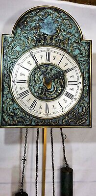 Gorgeous Verdigris Weights Driven Chime Wall Clock! Made in Germany