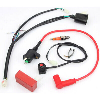 wiring loom harness kill switch coil cdi box for 50 70 125 140 150cc  motorcycle