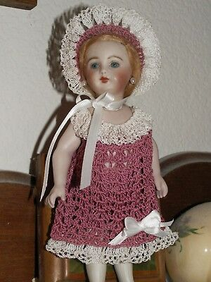 Heirloom Crochet Dress Set For 7 75 Antique Doll Bisque