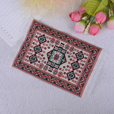 1:12 Miniature hand woven turkish rugs doll house accessories FT