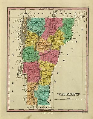 1876 VERMONT STATE ATLAS maps 79 antique history DVD