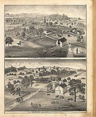 1877 Atlas SONOMA COUNTY CALIFORNIA old GENEALOGY plat maps LAND OWNERS DVD P29