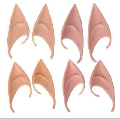Elf Ears Pointed Rubber Latex Prosthetic Tips Angel Fairy Pixie Adults Childrens