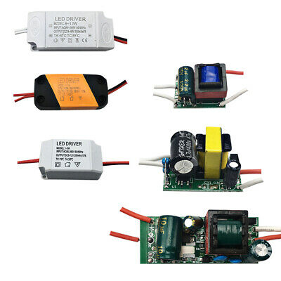 1-3 4-7 8-12 25-36W LED Light Driver Adapter Power Supply Constant Current 1X 5X