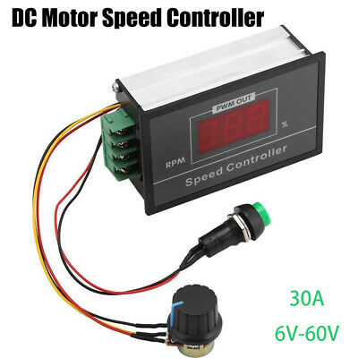 15KHz 6-60V 30A DC Motor Speed Control PWM Controller Module Start-Stop Switch