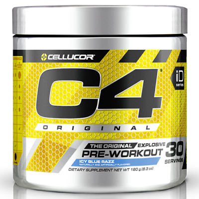 CELLUCOR C4 Original ID Series 30 Serves Pre-Workout Icy Blue Razz