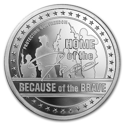 5 oz Silver Round - Home of the Free - SKU#185293