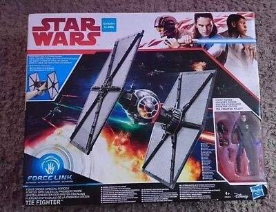 Hasbro Star Wars Force Link TLJ The Last Jedi Tie Fighter Exclusive To Asda NEW!