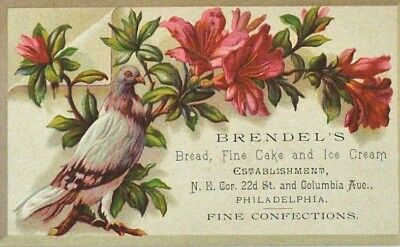 Antique Victorian Brendels Fine Cake Ice Cream Confection Advertising Trade Card