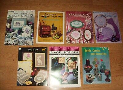 Lot of Seven Crafting Booklets ~ Variety of Crafts